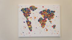 Inspire India: Gallery- Colorful Drip World Map