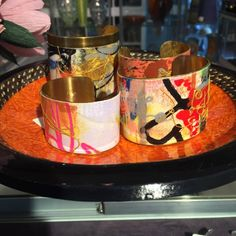 Hand Painted Bracelets;   DeSimone Designs:      Artwork and jewelry: what could be better than that? DeSimone Design's hand-painted bracelets combine the two, incorporating intricate designs and styles. Come get your very own today!
