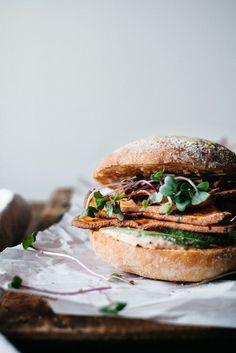 spicy sweet potato chip & avocado sandwich