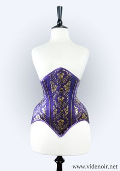 Custom size Underbust Underbust italian silk with by Videnoir