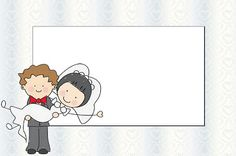 Casamento Noivos Fofinhos – Kit Completo com molduras para convites, rótulos para guloseimas, lembrancinhas e imagens! |Fazendo a Nossa Fest...