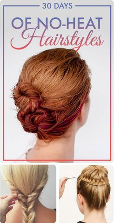 Hairstyles For Short Hair No Heat : ... No Heat Beach Waves Hairstyle Short Hair with Easy No Heat Hairstyles