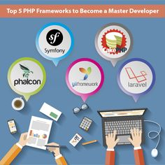 Top 5 PHP framework, Become a Master in web development. Hire PHP Development company