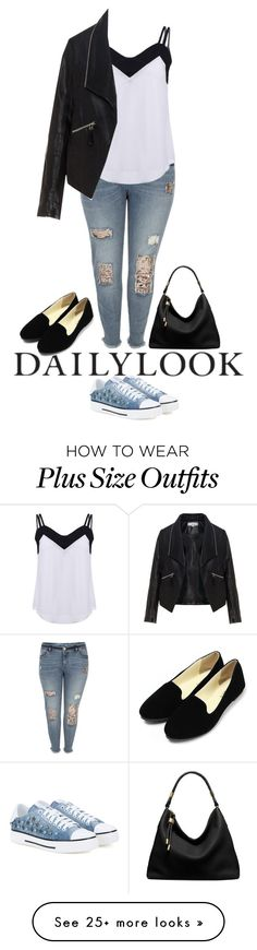 """Conley_esperanzaj-brownshuga"" by conley-esperanzaj1957 on Polyvore featuring River Island, Zizzi, Michael Kors and Valentino"