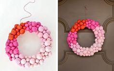 Как сделать декоративный венок из бумажных шариков