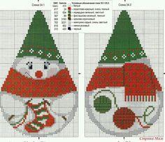 ♥ Mon point Graphiques Cruz ♥: cône Père Noël et Mère Noël en point de croix