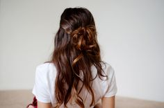 A little bit of texture spray a few bobby pins later you get the ultimate casual half up do