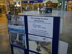 Showing more awareness of the water crisis in Surrey Quays Shopping Centre 27 Mar 2012