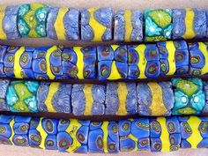 Antique Venetian beads from the African trade. Ethnic Jewelry, Beaded Jewelry, Antique Jewelry, Jewellery, Decorative Beads, African Trade Beads, Beading Supplies, African Fabric, How To Make Beads