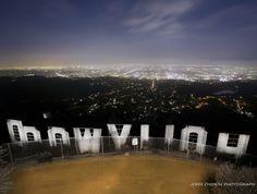 #Hollywood sign, #LA skyline