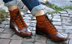 Armada - Womens Fall Boots, Lace-up Leather Boots, Brogue Boots, Chelsea Ankle Boots, Custom boots, FREE shipping & customization.