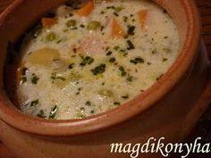 Magdi konyhája: Tejszínes-tárkonyos zöldségleves Cheeseburger Chowder, Soup, Soups