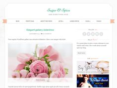 Sugar and Spice is chic, feminine theme created with wedding blogs and wedding industry in mind. Features include option to upload your own logo & favicon, customizable colors and background, 3 different layout options. And guess what - it's responsive too! Perfect for wedding related businesses - event planners, florists, photographers, cupcake shops or bakeries. Showcase your brand with style!