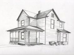 Image result for 2 point perspective drawing house