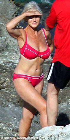 bikini Helen mirren red