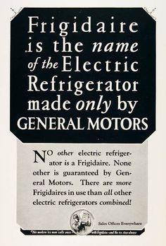 1939 Frigidaire Refrigerator Original Vintage