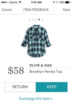 The blue in this plaid is almost a beautiful teal. Gorgeous shirt. Runs small.