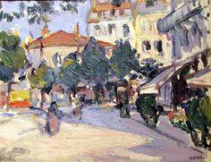 S.J. Peploe - A Street in Paris, 1911