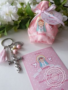 Baptism and First Communion favors: favor card customized