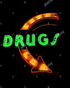 Drugs neon