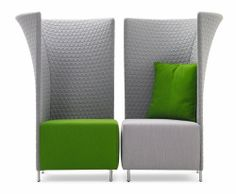 Office Design: Modern Flair Chair - High Back Privacy Lounge Seating