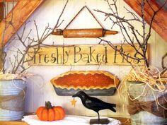 Buckets, twigs, blackbird and pumpkin pie
