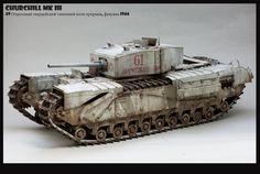 Churchill Mk. III in Soviet Army 1/35 Scale Model