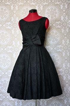 Vintage 1950's Minx Modes Little Black Dress by pursuingandie, $250.00