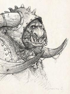 Orc sketch by Jean-Baptiste Monge
