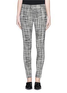 'Adbelle K' grid stretch knit pants