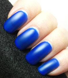 A beautiful blue jelly polish that dries to a matte finish. If you don't like matte polishes, don't turn away from this one. Just add a top coat for gorgeous shine that also brightens the color!First photo is three coats with no top coat to show the matte finish.Second photo is with a top coat.If you love the color, but you just wish it had glitter