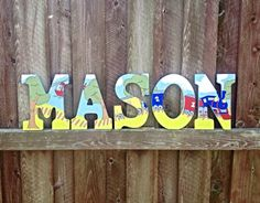 9 Boys train theme wooden wall letters Boys by MiaMonroeBoutique, $13.00