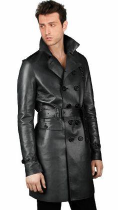 Slim Fit Nappa Leather Coat for Men