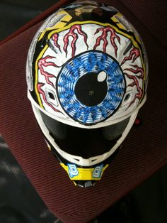 Kustom EYEBALL I painted with POSCA markers in Australia while on the Crusty Tour
