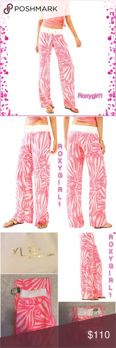 """LILLY PULITZER BEACH PANTS LILLY PULITZER BEACH PANTS Sun Ray~Shimmy Shimmy  DESCRIPTION Perfect for when the sun dips below the horizon and the beach breeze gets a little brisk, pull these colorful Luxurious Pants on! These will be your go-to beach pants for sunshine days.  33"""" Inseam Printed, Easy Pull On Pant With Rib Knit Wasitband. Beach Linen- Print (100% Linen). Machine Wash Cold ✅PRICE FIRM UNLESS BUNDLED Lilly Pulitzer Pants"""