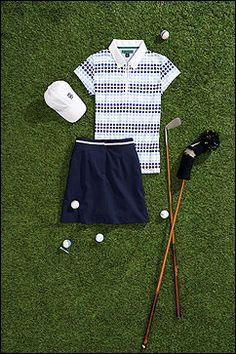 Improve Your Golf Swing With These Tips! Golf may seem like it's just whacking a ball into a hole, but there's so much more to it than that. To create a golf swing that sends the ball just where y Golf Outfit, Golf Attire, Skort Outfit, Tommy Hilfiger, Golf Tips For Beginners, Golf Wear, Golf Lessons, Golf Gifts, Golf Fashion