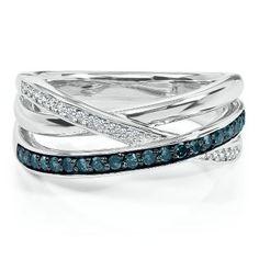 1/4 ct. tw. Blue & White Diamonds @ Summit Woods in LEE SUMMIT, MO. ♥ ♥ ♥