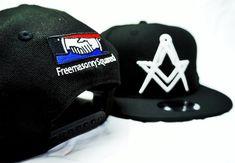 Freemasonry Squared's Masonic Snapbacks! Available at Facebook.com/freemasonrysquared  #freemasonry #masons #freemasons #masonic #masonicmemes #snapbacks #masonicclothing #masonicsnapbacks #hats #newera