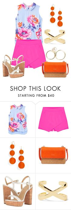 """""""Sans titre #5151"""" by kina-ashley ❤ liked on Polyvore featuring Joules, BaubleBar, Pixie Mood, MICHAEL Michael Kors and Noir Jewelry"""
