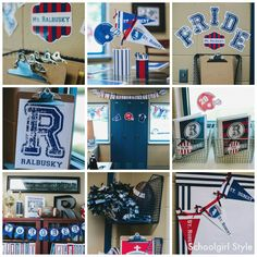 Varsity Prep collage by Schoolgirl Style Red and Navy 1