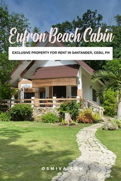 Are you planning on a weekend trip with the family or a week-long stay near the beach? The Eufron Beach Cabin in Santander, Cebu will give you the relaxing ambiance you want! Read more here: #cebugetaway #exclusivebeachcabin #travelcebuph Siargao, Palawan, Asia Travel, Travel Usa, Travel Tips, Travel Ideas, Beautiful Hotels, Beautiful Places To Visit, Amazing Places