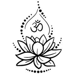 Small Lotus Tattoo, Lotus Tattoo Design, Small Tattoos, Tattoo Designs, Om Symbol Tattoo, Chakra Tattoo, Sanskrit Tattoo, Tatoo Henna, Mandala Tattoo