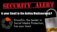 Check to see if your Email is listed in the Ashley Madison hack: #security #AshleyMadisonHack
