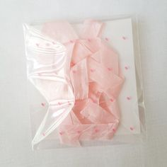 Little Pink Hearts Translucent Gift Bag