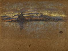 James McNeill Whistler, 'Salute - Sundown', 1880. James Mcneill Whistler, Public Display, Worlds Largest, Printmaking, Painting, Art, Pastel Drawing, Kunst, Art Background