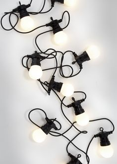 Anno, 10 LEDs in a chain for outside use, available at Kodin Ykkönen. Not bad at all.