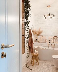 Ways to make your home more cozy and comfortable for this year with neutral home decor #interiordesign #homedecor #decoratingideas Modern Bathroom Tile, Boho Bathroom, Bathroom Interior Design, Home Interior, Small Bathroom, Master Bathroom, Washroom, Warm Bathroom, Neutral Bathroom