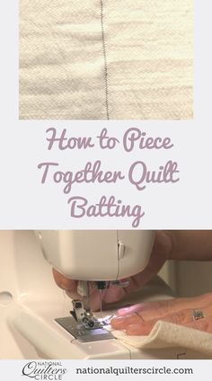 After a quilt has been layered and quilted, most times there will be some excess quilt batting that needs to be trimmed away from around the edges. Rather than throwing away all of your smaller scrap sizes of batting, save them and learn how quick and easy it can be to piece together small pieces of batting- Heather Thomas shows you how. Quilting For Beginners, Quilting Tips, Quilting Tutorials, Quilting Projects, Quilting Designs, Beginner Quilting, Sewing Projects, Patchwork Quilting, Hand Quilting