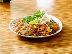 Japanese Pan noodles with crusted chicken and lime. Pad Thai Noodles, Noodles And Co Pad Thai Recipe, Japanese Pan Noodles, Noodles And Company, Thai Recipes, Yummy Recipes, Just Eat It, Crusted Chicken, Yummy Food