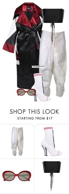 """""""blame it on the alcohol"""" by abitchizcreative ❤ liked on Polyvore featuring Misbehave, Fendi, Yves Saint Laurent and The Row"""